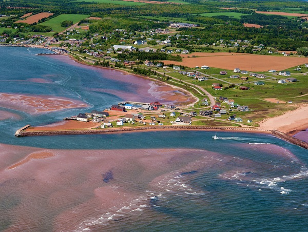 Aerial view of North Rustico, PEI