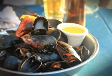 Mussels at Blue Mussel Cafe